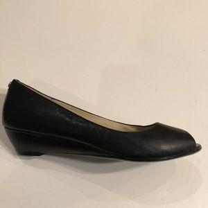 Michael Michael Kors leather platform peep toe